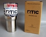 30oz Rtic Tumbler  Floral City Airboats Logo